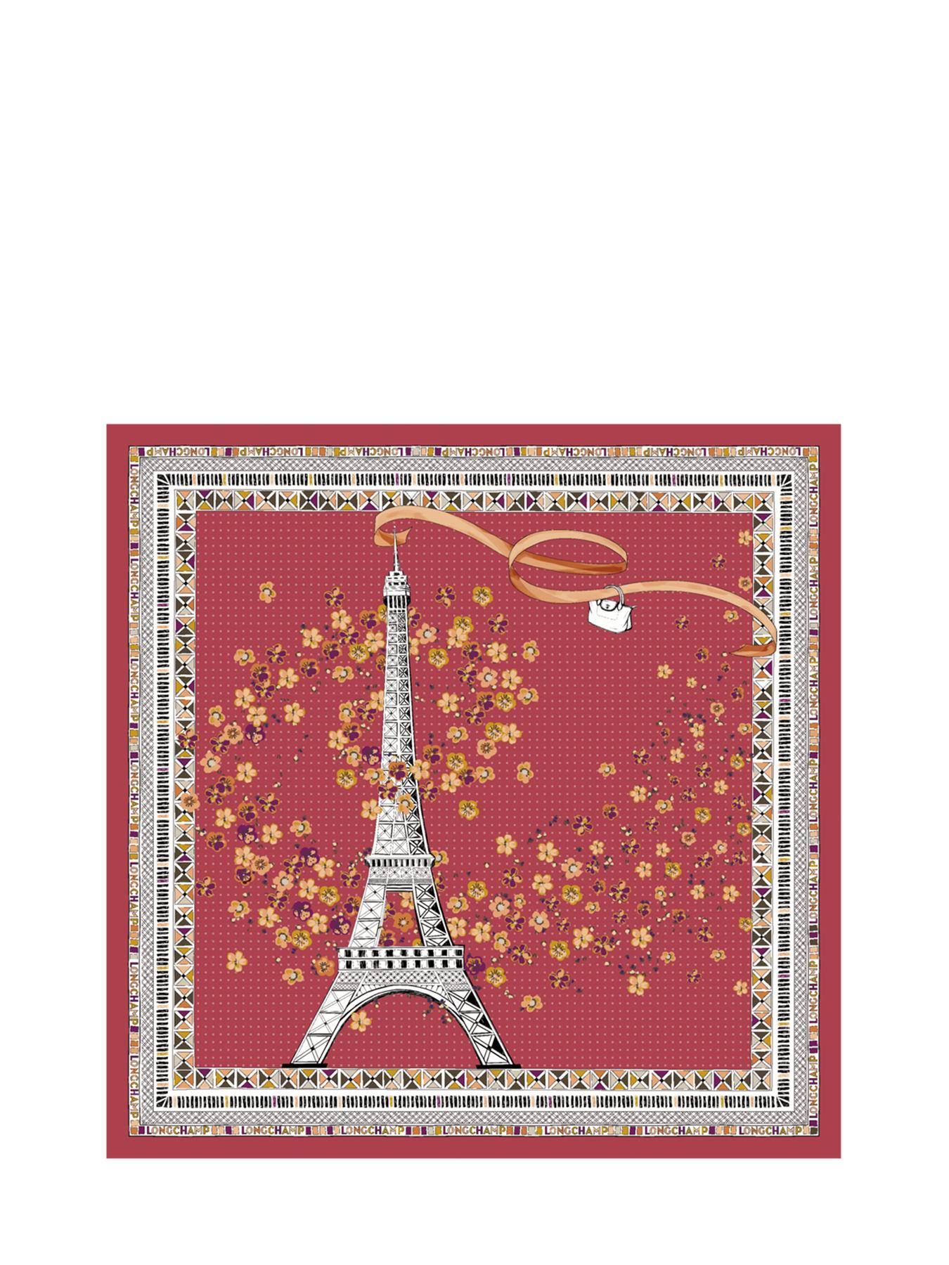 Carré de soie 50x50 Ma Tour Eiffel Fleurie LONGCHAMP